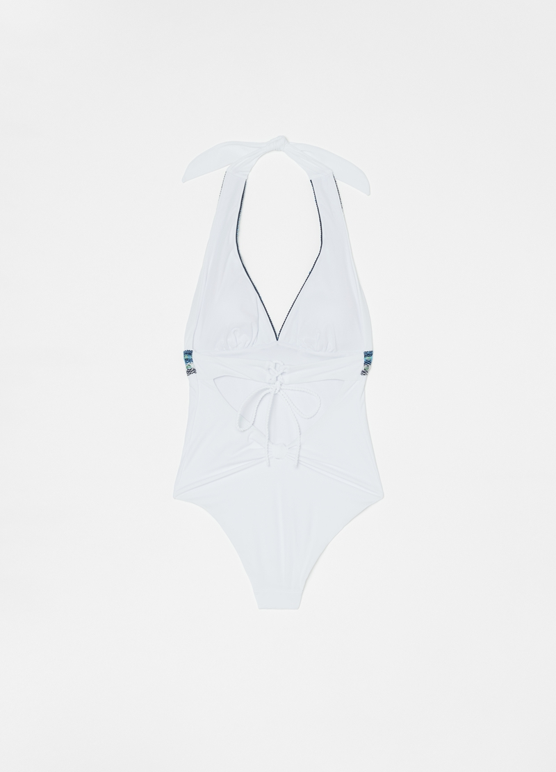 Knitted one-piece swimsuit image number null