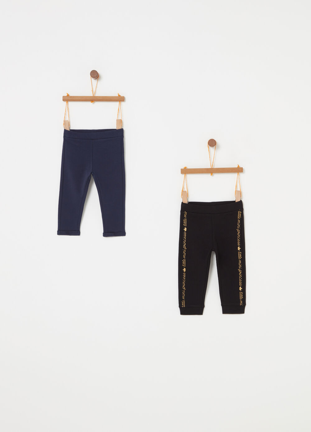 Set due pantaloni French Terry stampa