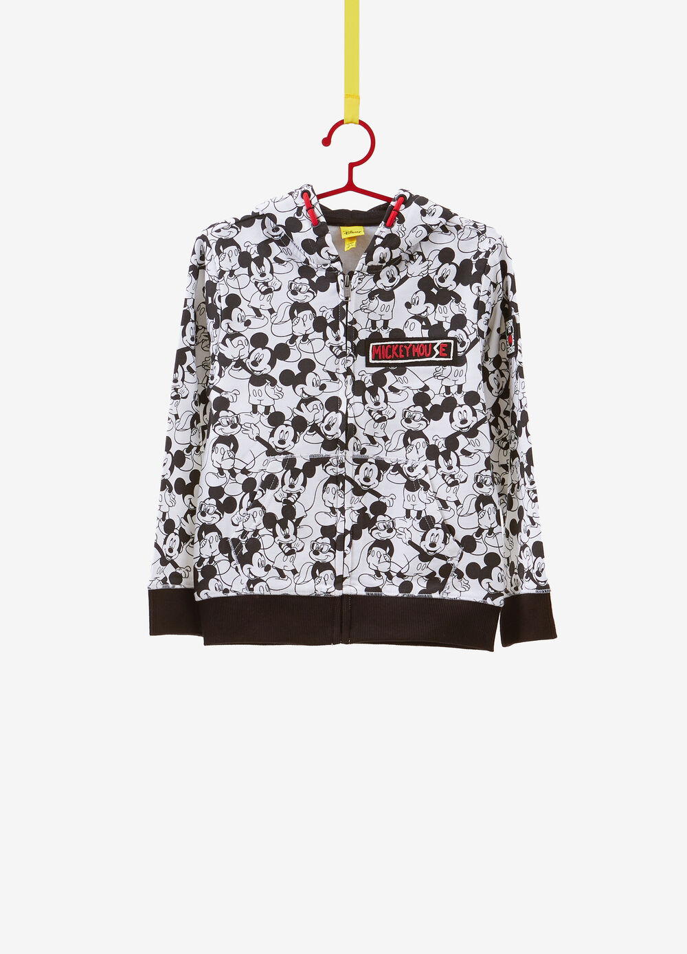 Sweatshirt with Mickey Mouse pattern in 100% cotton