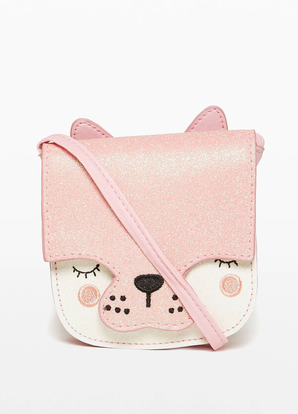Shoulder bag with puppy embroidery