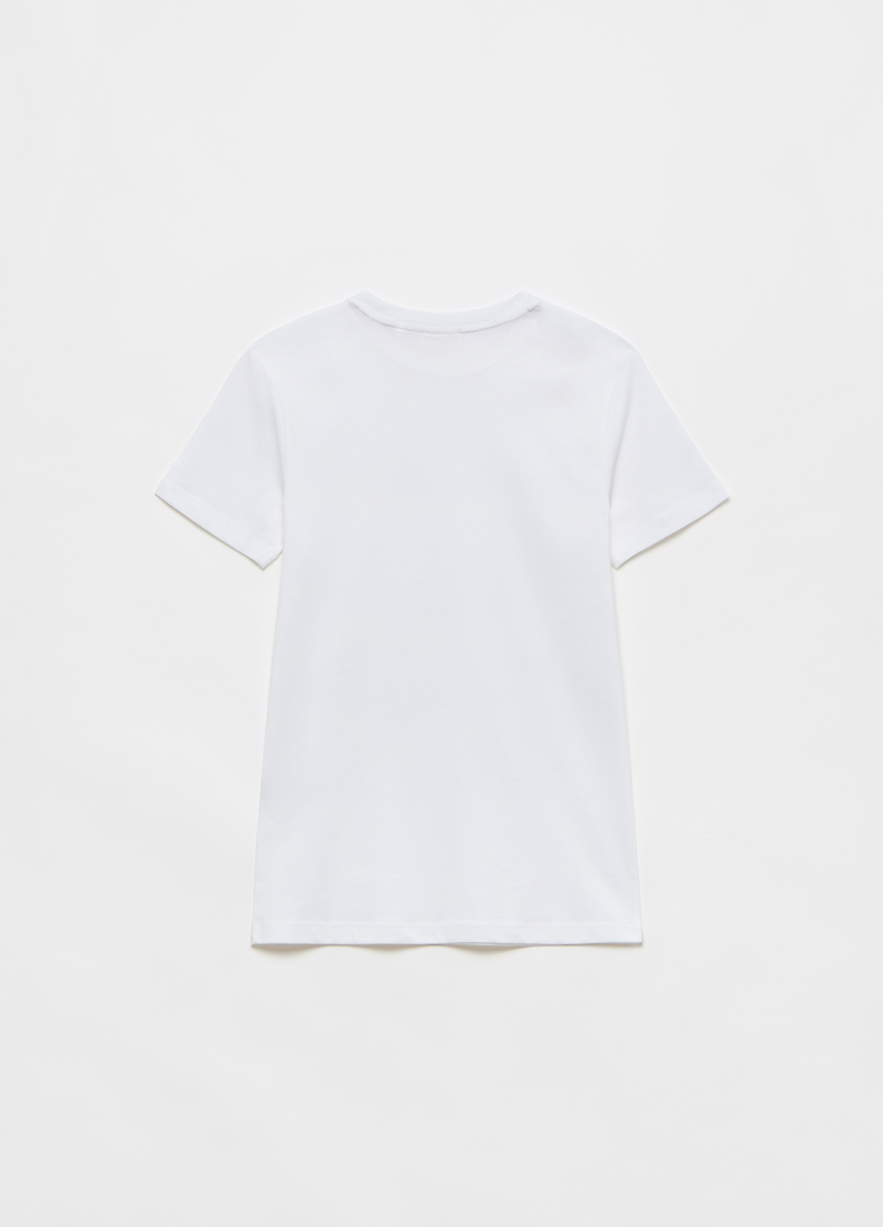 Solid colour cotton T-shirt image number null
