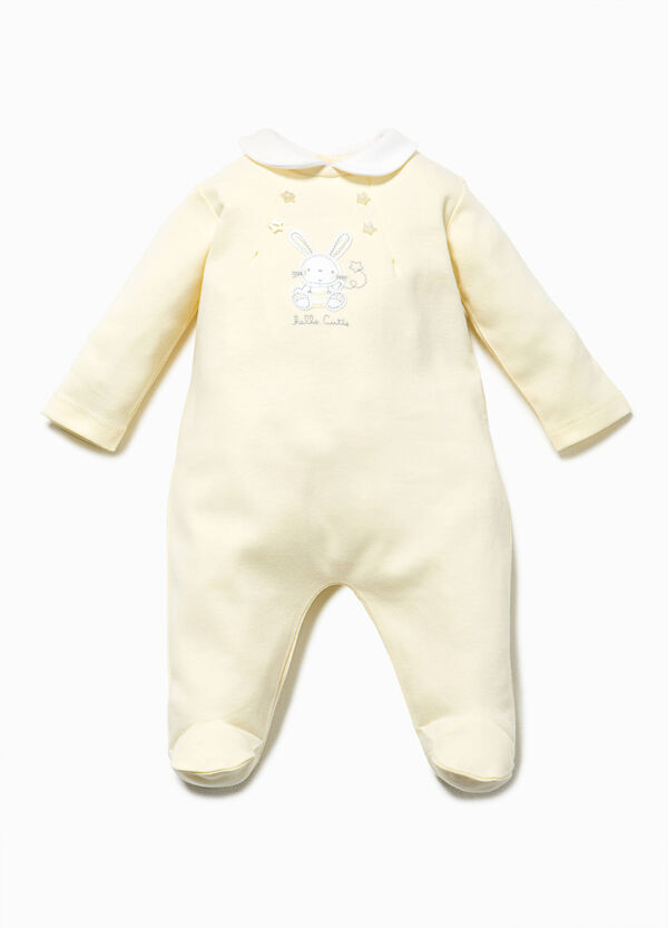 Cotton onesie with animal patch | OVS
