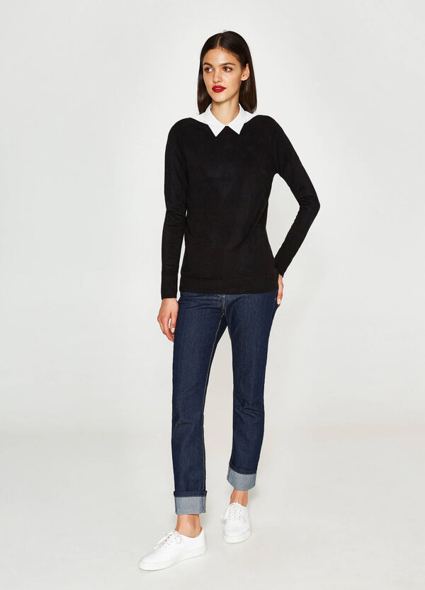 Pullover with boat neck | OVS