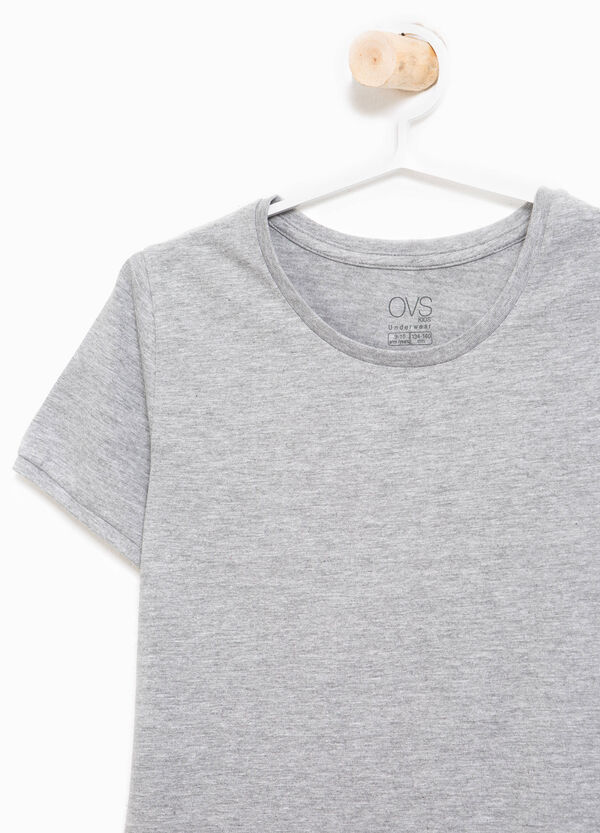 Stretch undershirt in organic cotton | OVS