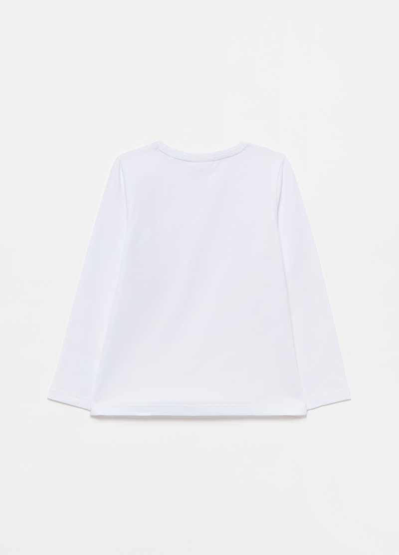 T-shirt in cotone stretch a maniche lunghe image number null