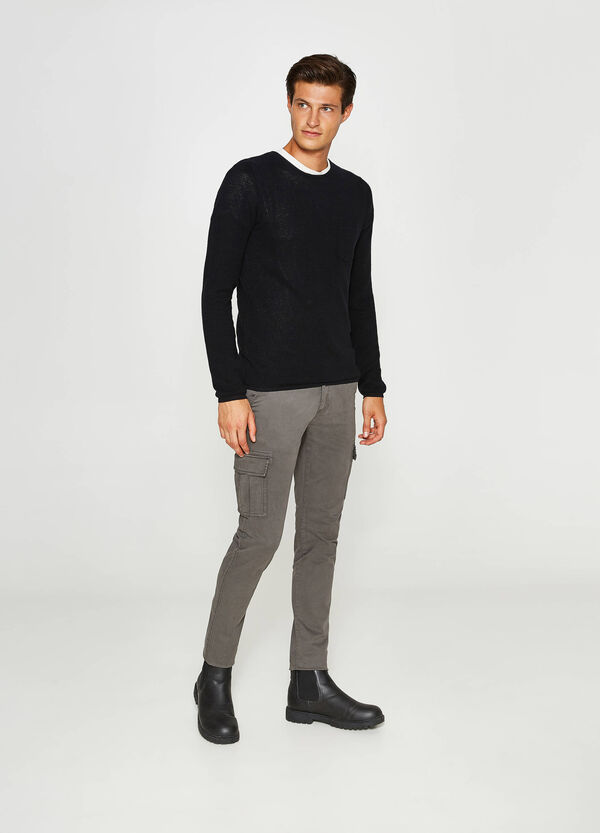 Pantaloni chino slim fit stretch cargo | OVS