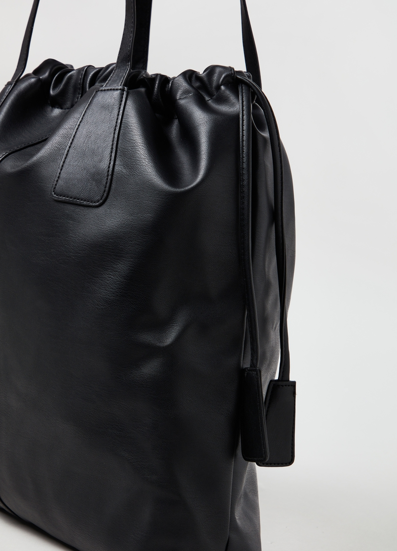 Shopper with drawstring image number null