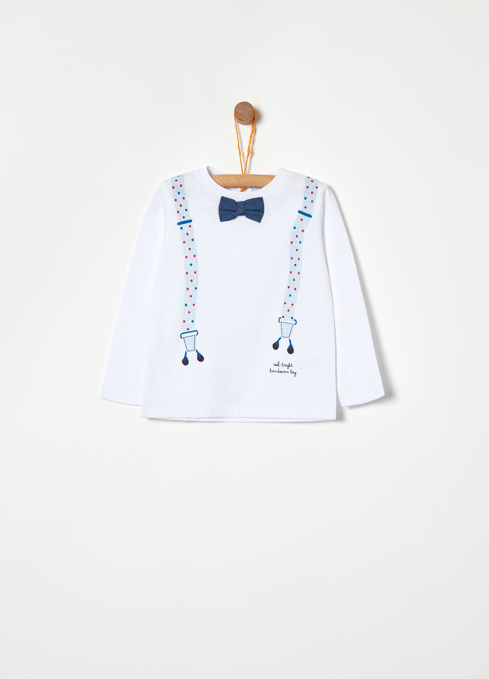 100% BCI cotton T-shirt with bow tie print