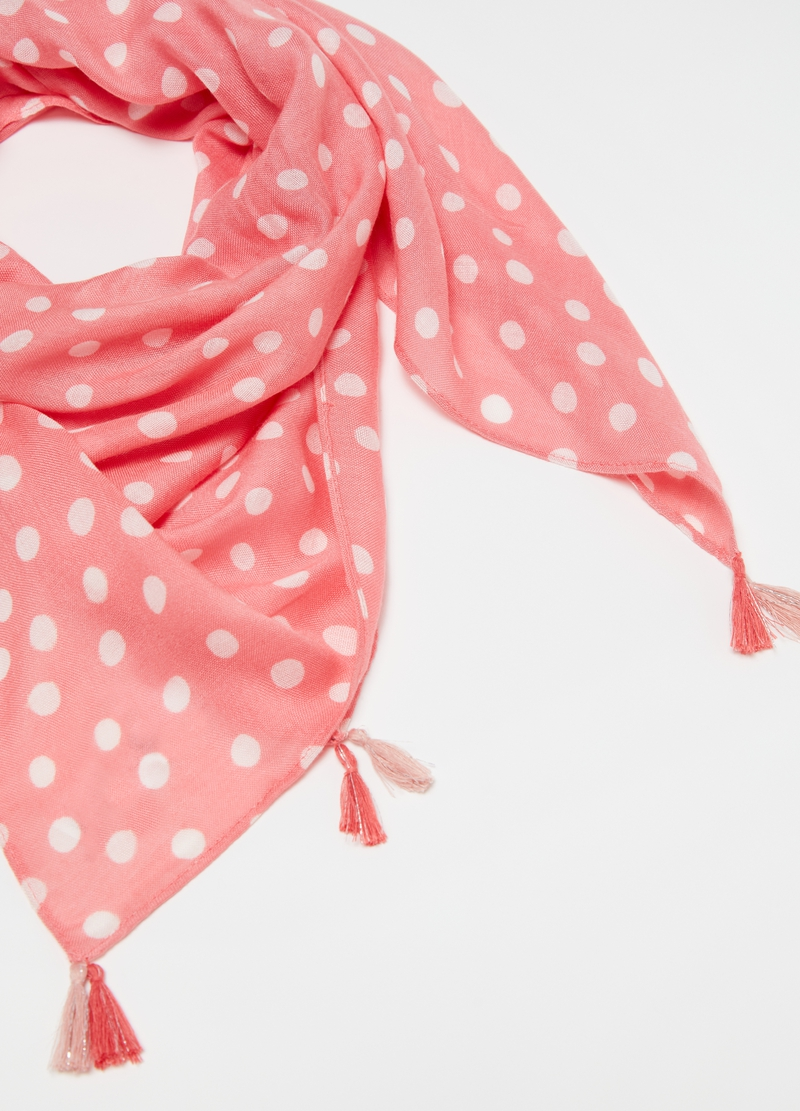 Pashmina pura viscosa a pois image number null
