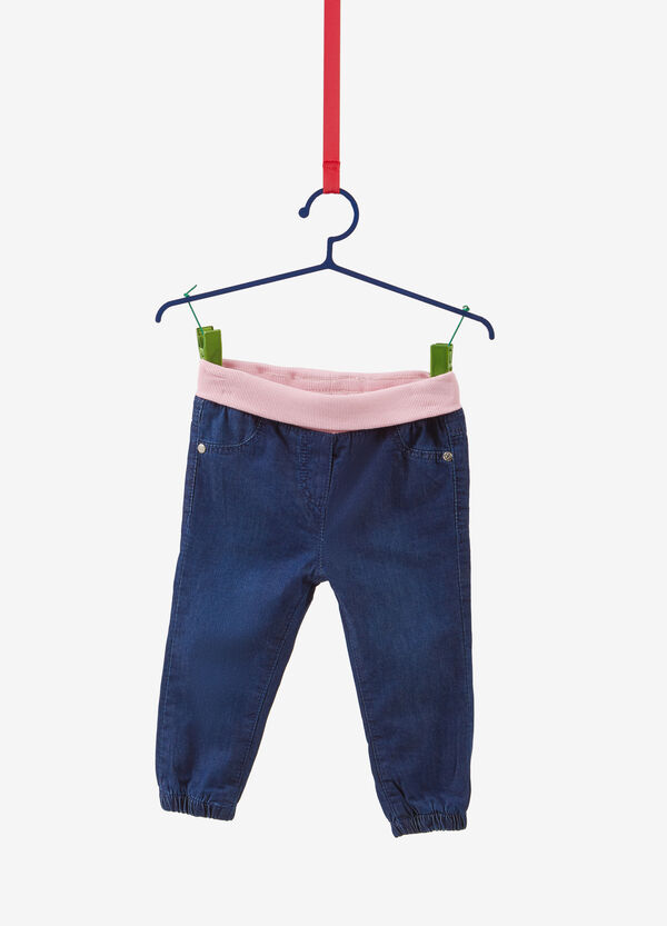 Jeans regular fit foderato