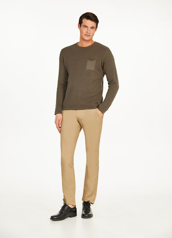Pantaloni chino regular fit cotone