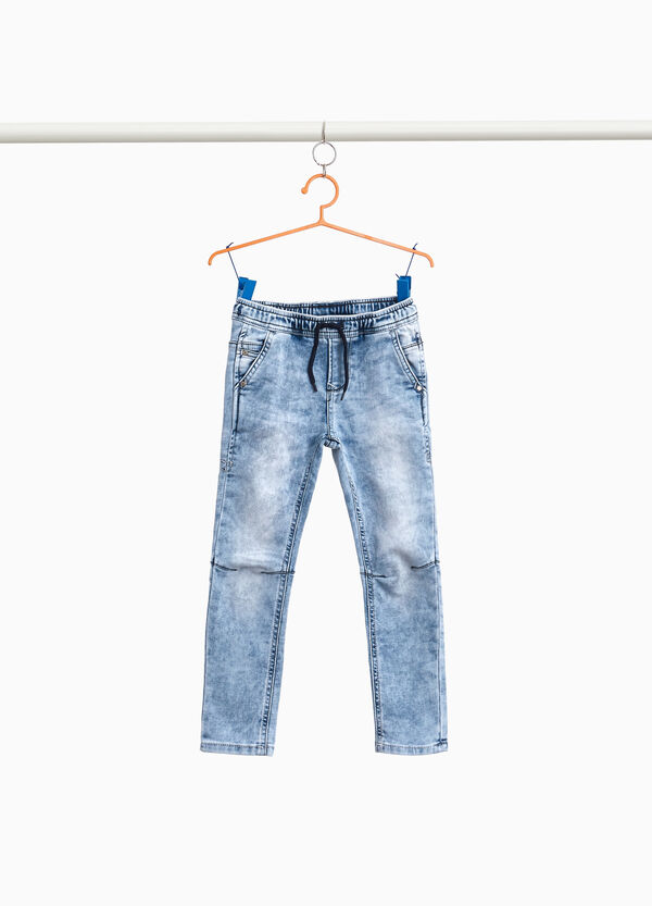 Mis-dyed effect jogger-fit jeans