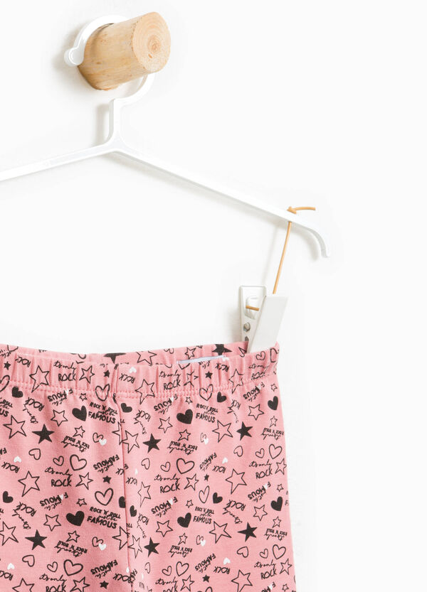 Patterned leggings in stretch cotton | OVS