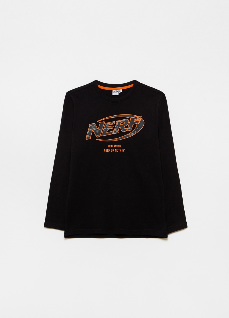 Long-sleeved T-shirt with NERF print image number null