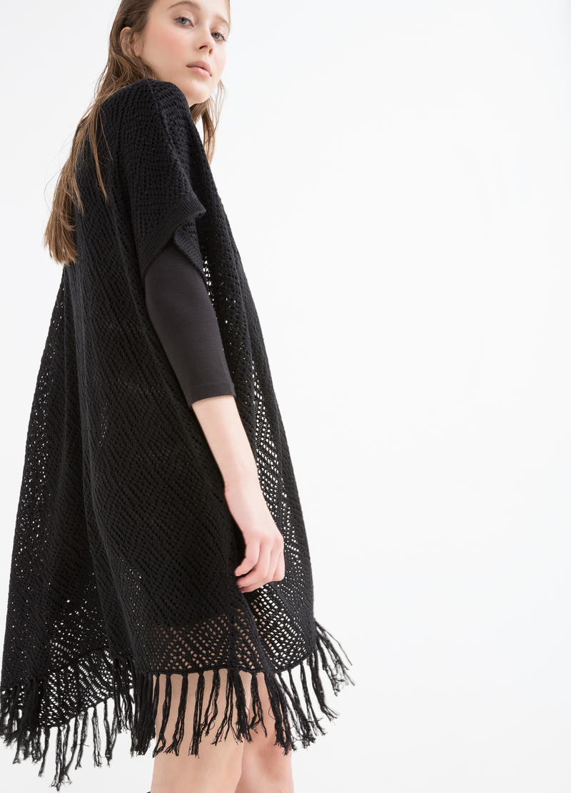 Long cardigan with fringe image number null