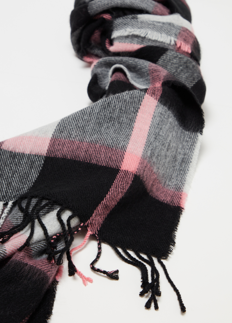 Maxi check jacquard scarf image number null