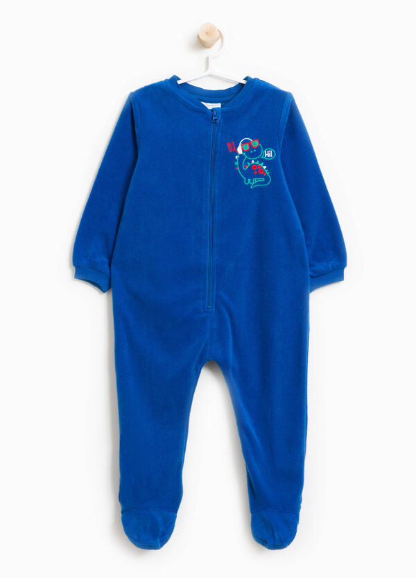 Sleep suit with zip and embroidery | OVS