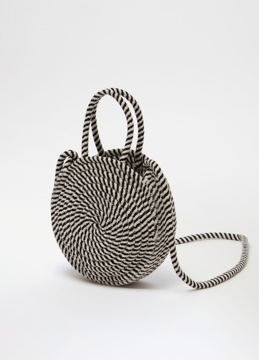 Circle bag bicolore con tracolla
