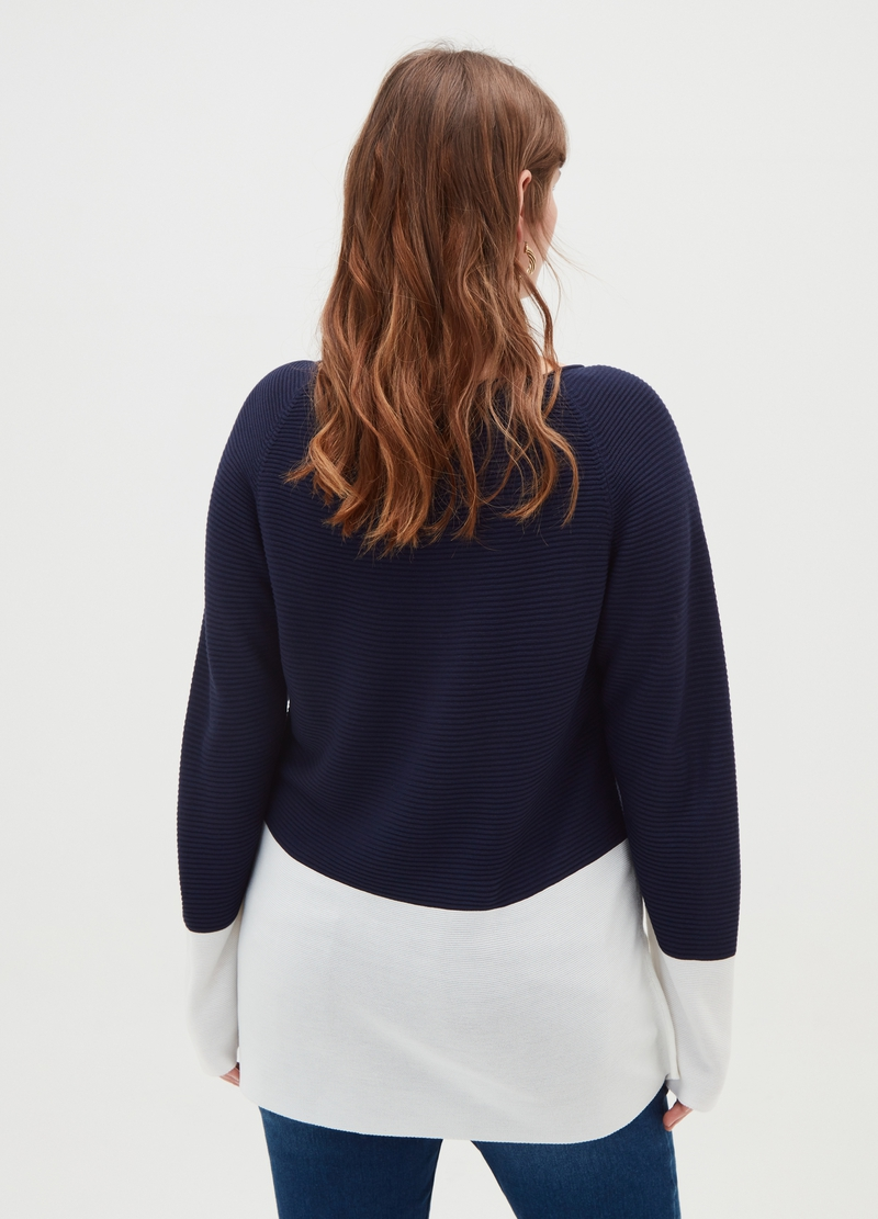 Pullover trama a righe Curvy image number null