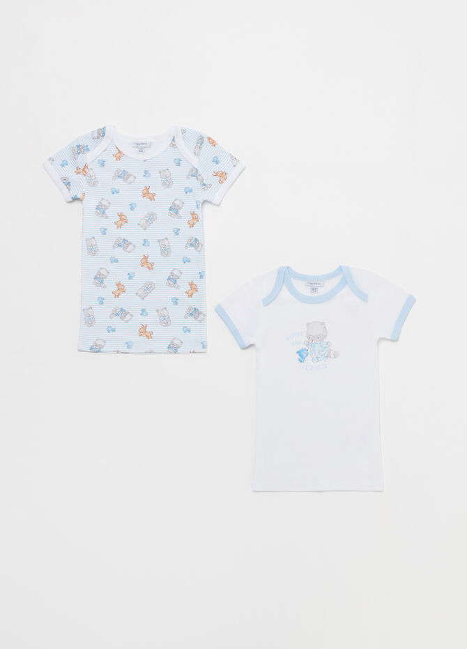 Two-pack printed and patterned under shirts