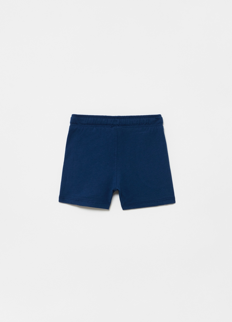 Cotton jersey shorts with pockets image number null