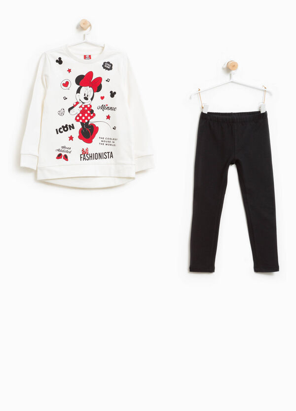 Tracksuit in 100% cotton with Minnie Mouse print | OVS