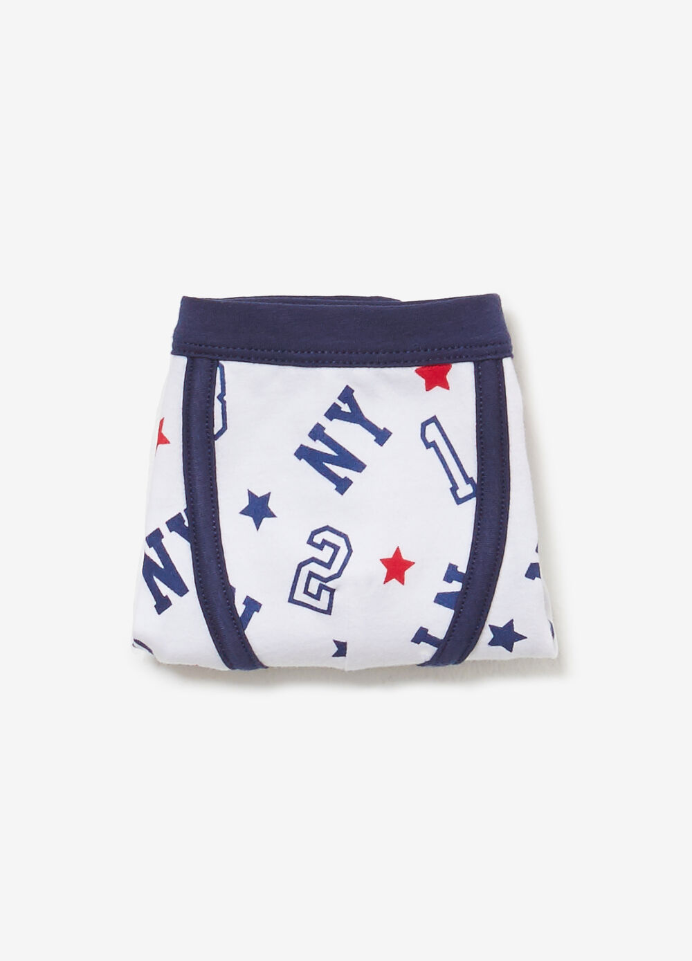 Boxer shorts in cotton with lettering pattern