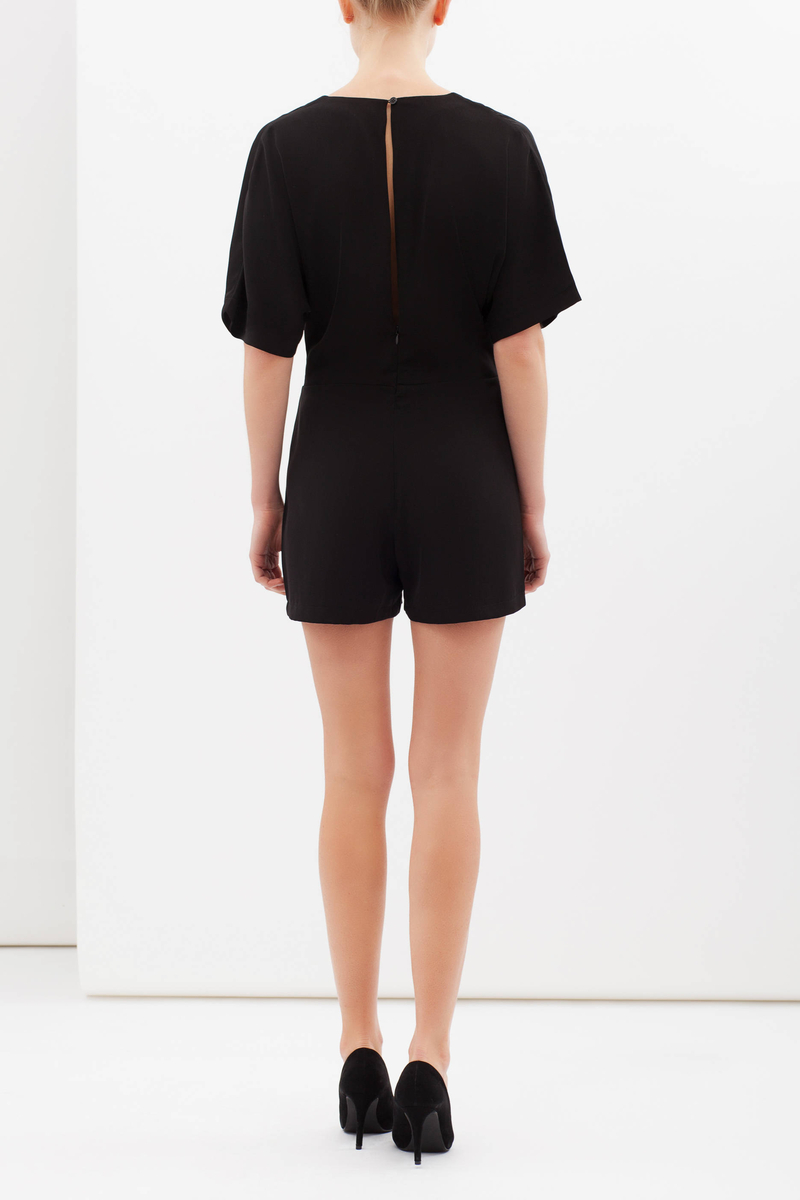 Playsuit with kimono sleeves image number null