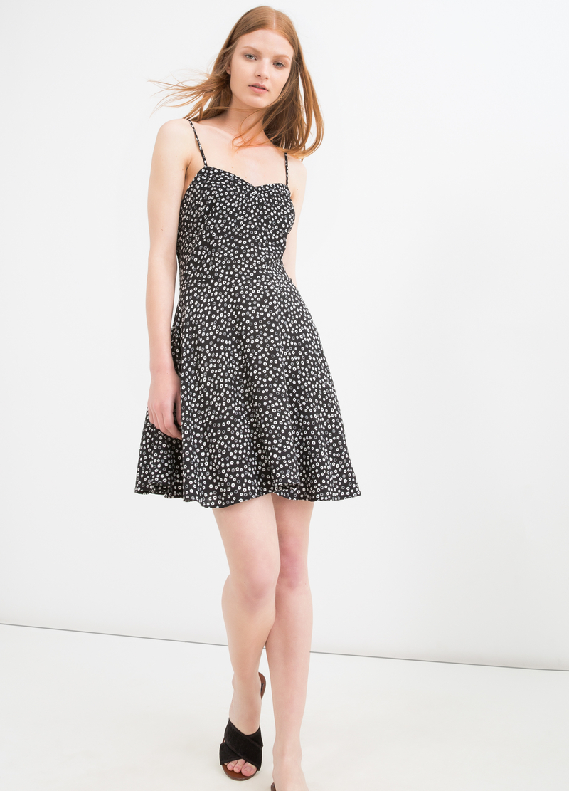 Sleeveless short dress in 100% viscose image number null