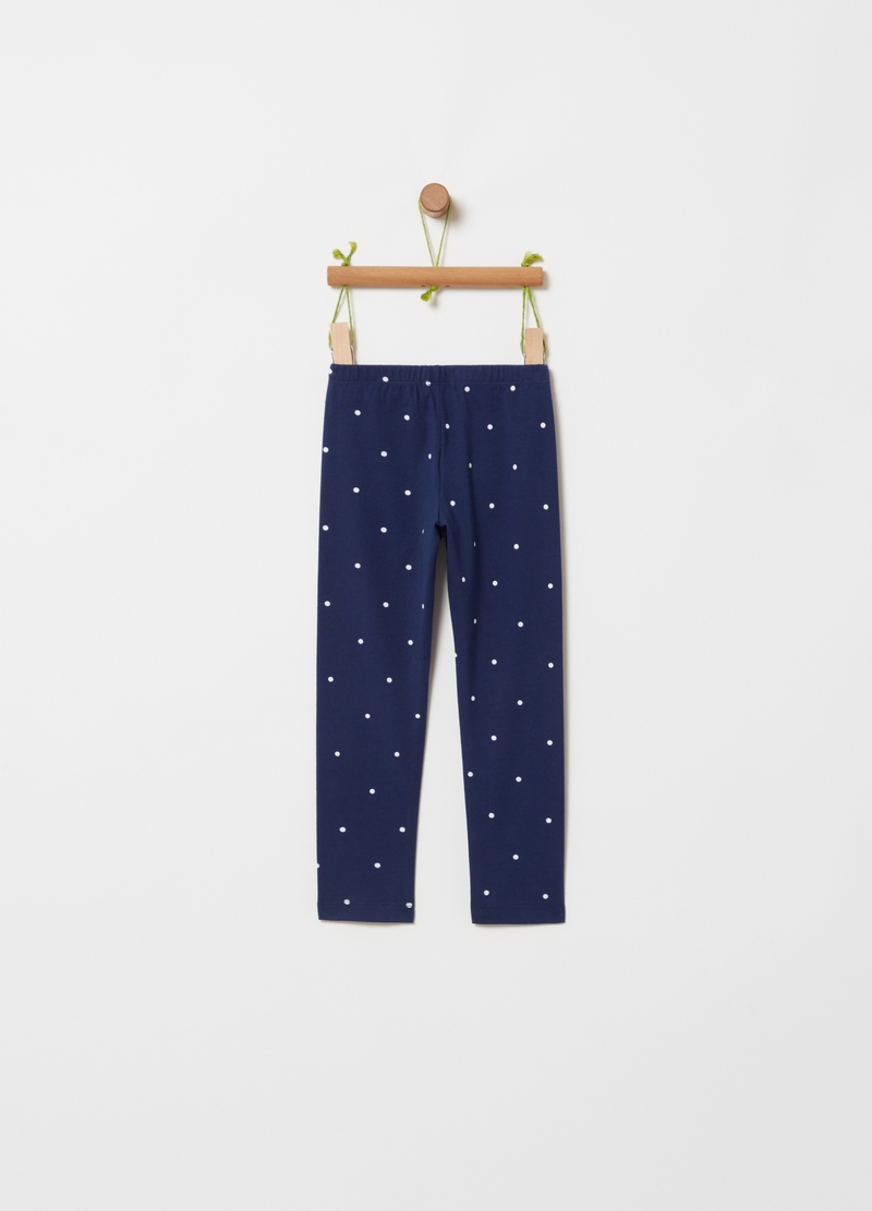 Leggings stretch stampa a pois image number null