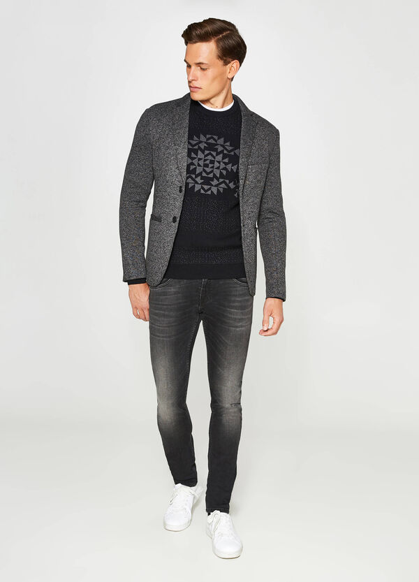 Casual two-tone jacket with two-button fastening | OVS