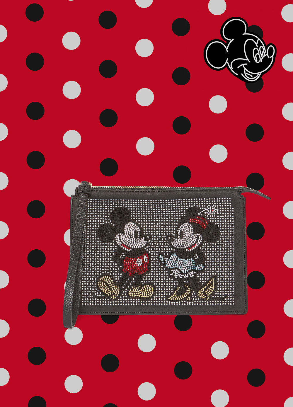 Pochette con strass Mickey Mouse e Minnie