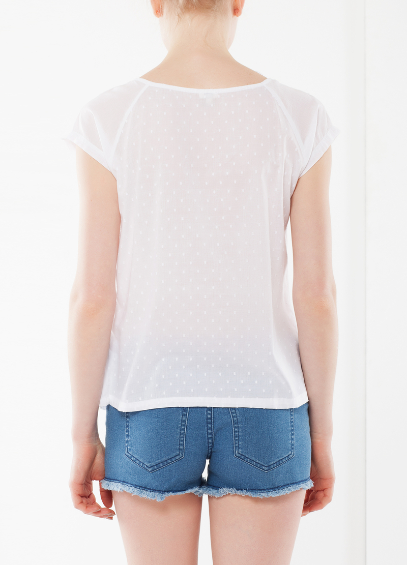 Top with perforated pattern details image number null