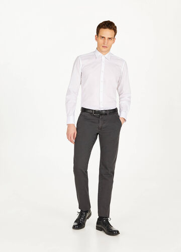 Slim-fit casual shirt in cotton blend