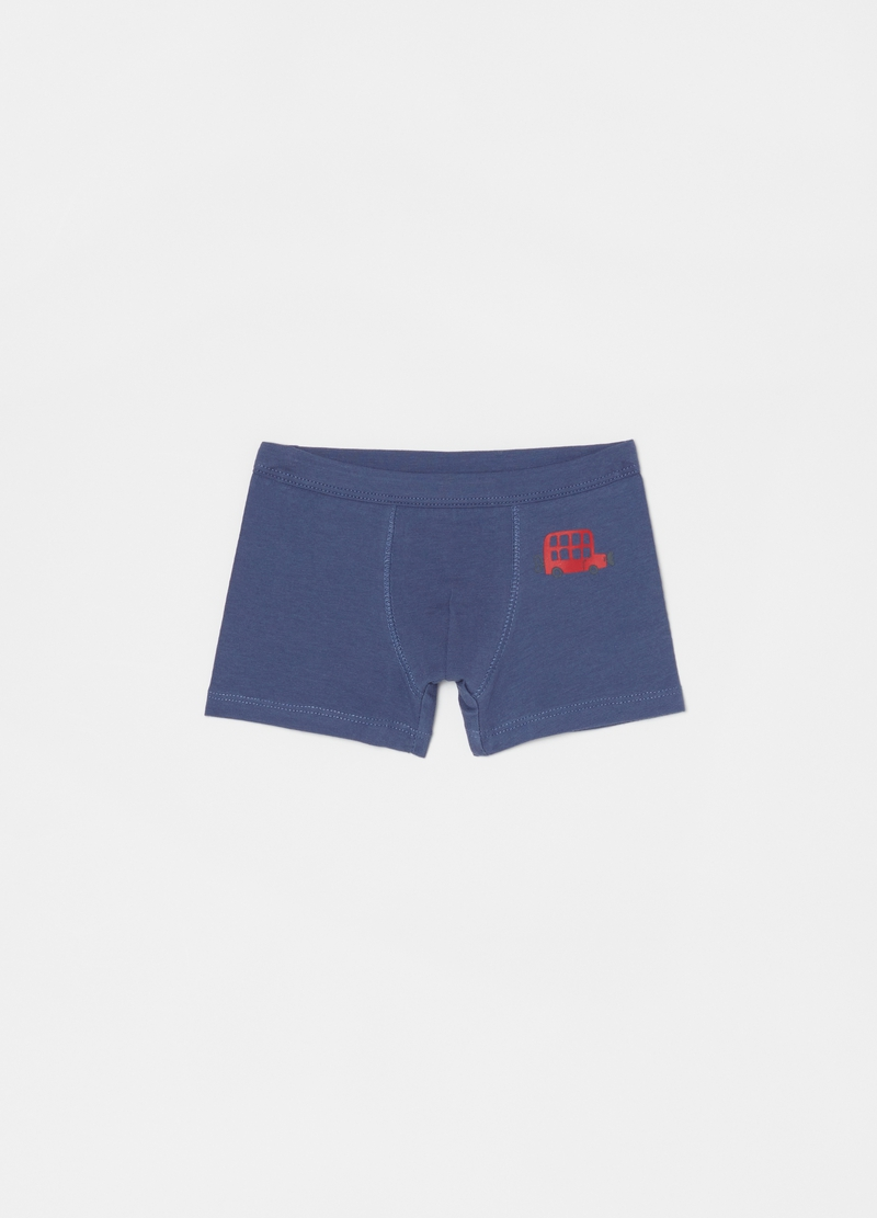 Two-pack stretch cotton boxer shorts with print image number null