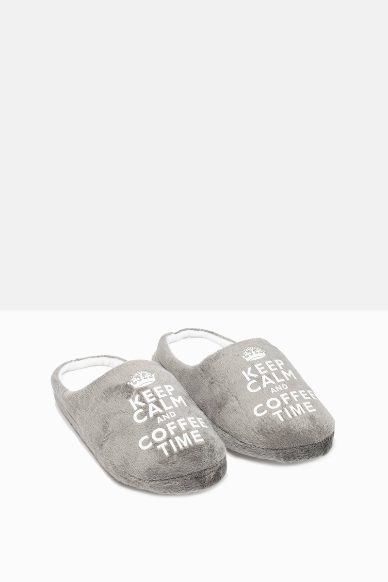 Slippers with printed lettering image number null