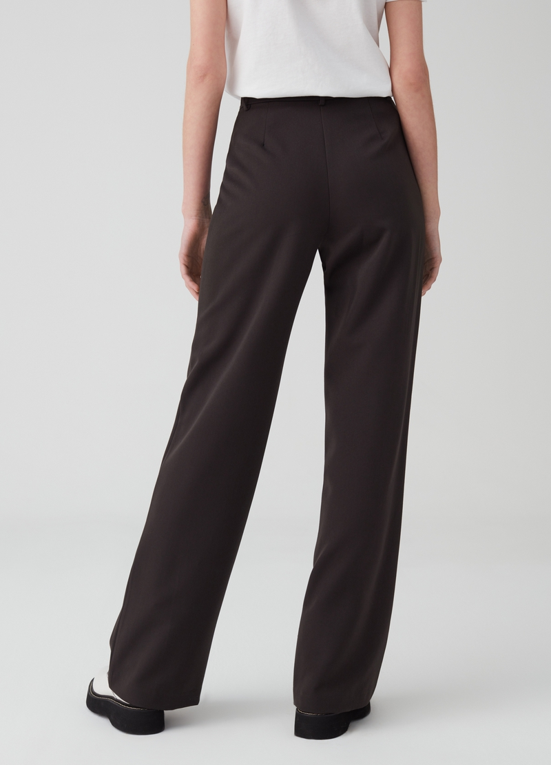 Pantaloni stretch con bottone image number null