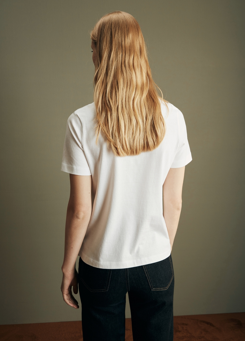 PIOMBO solid colour T-shirt in cotton image number null