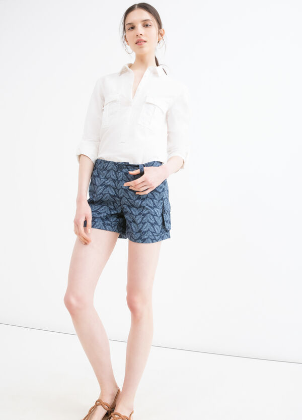 Printed shorts in 100% cotton | OVS