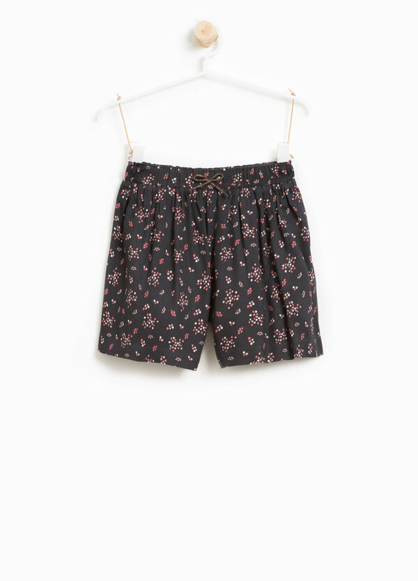 100% viscose shorts with floral print | OVS
