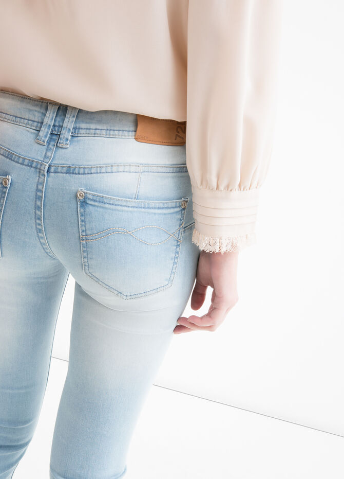 Push-up faded effect jeans
