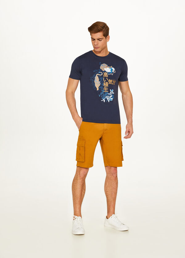 T-shirt puro cotone stampa giapponese