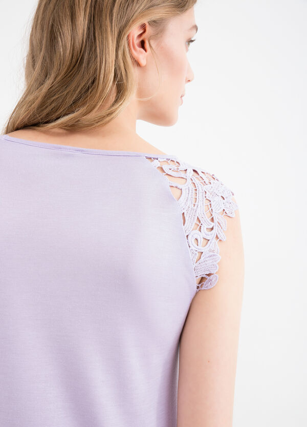 Top viscosa con pizzo | OVS