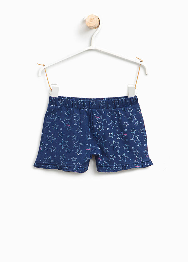 Glitter star patterned stretch shorts | OVS