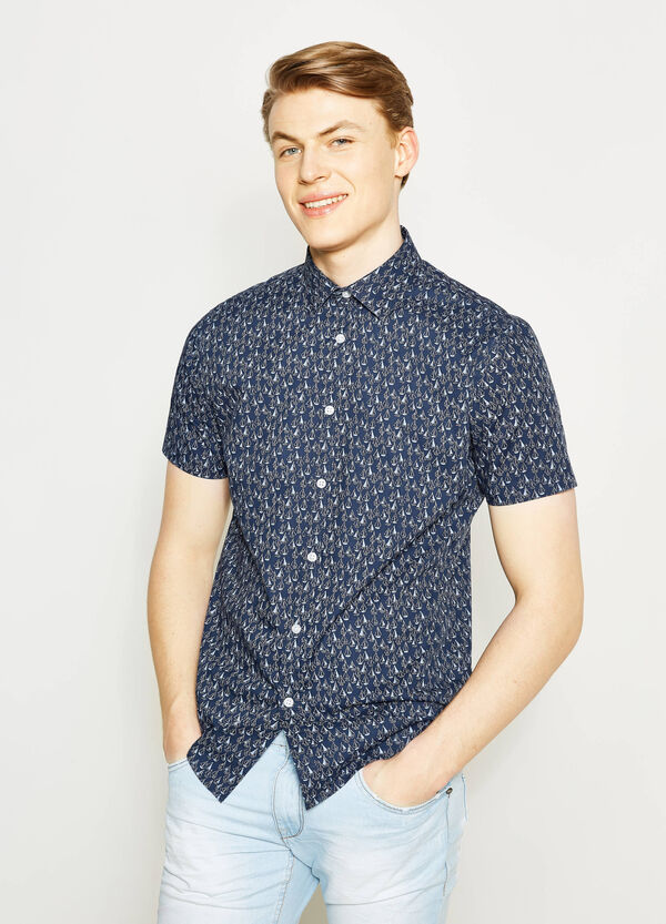 Regular-fit casual shirt with boats print | OVS