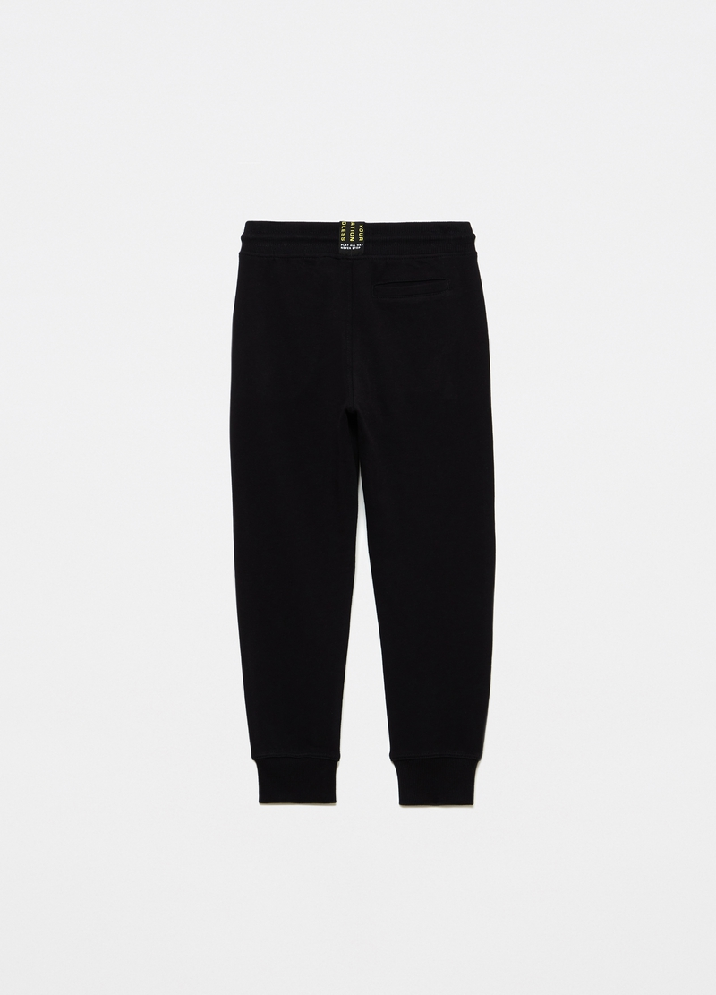 French terry joggers with lettering and band image number null