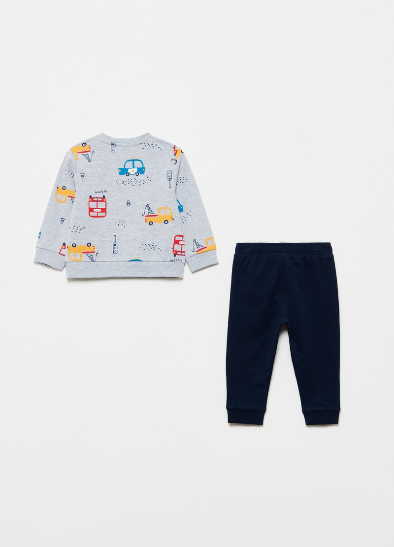Jogging set with cars pattern image number null