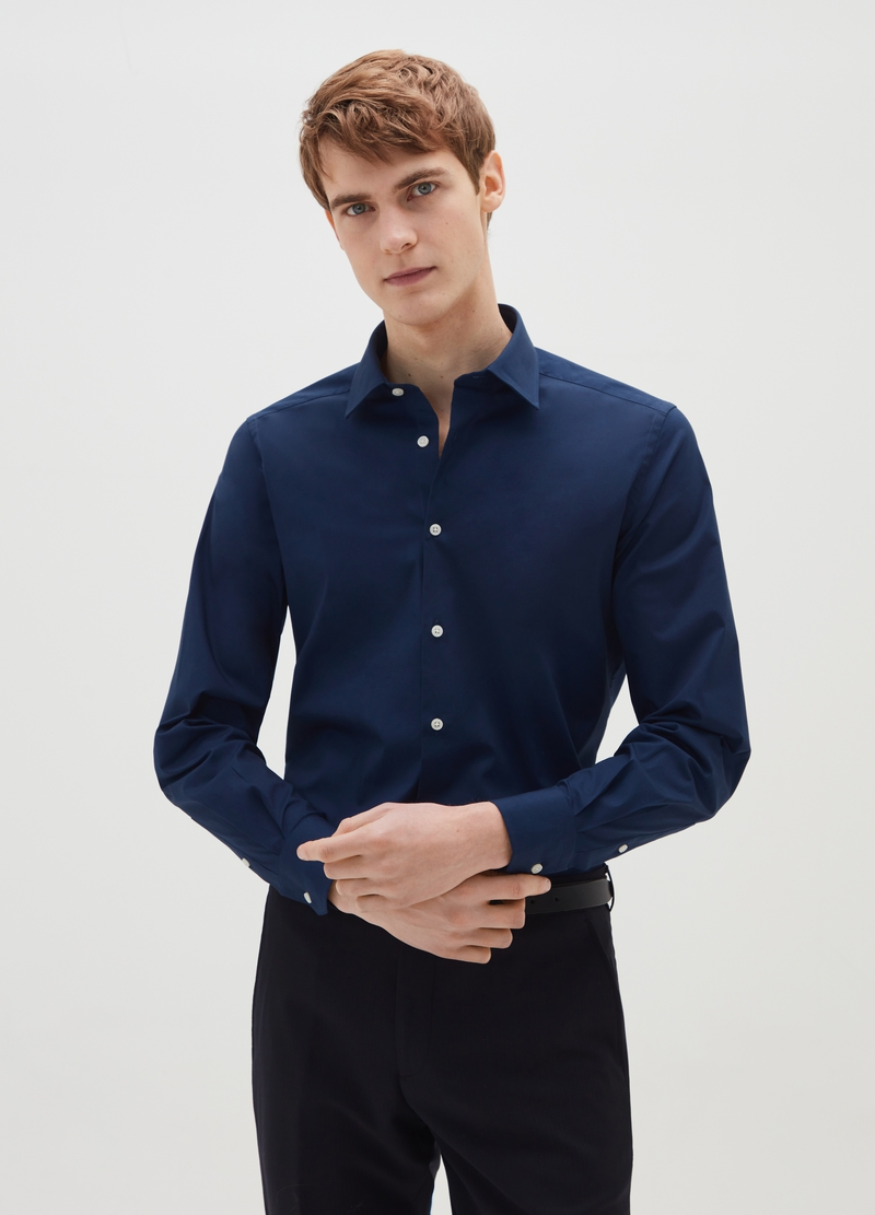 Slim fit, stretch cotton shirt image number null