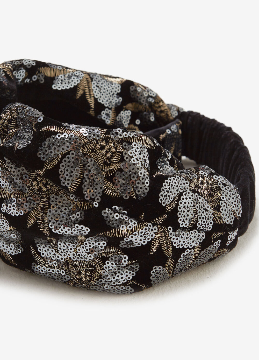 Headband with floral sequins