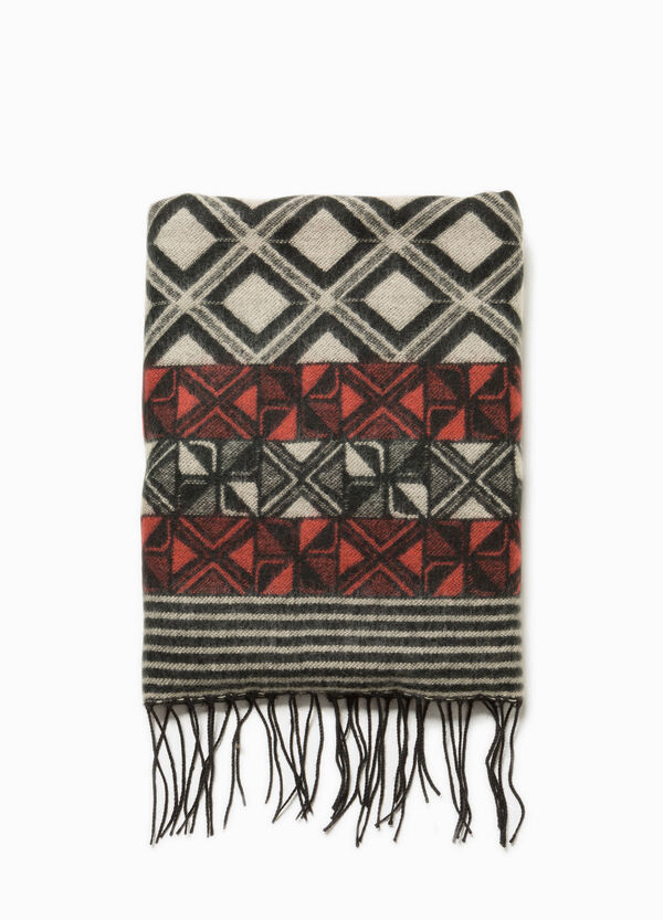 Geometric pashmina with fringe | OVS
